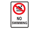 Picture of No Swimming w/Picture