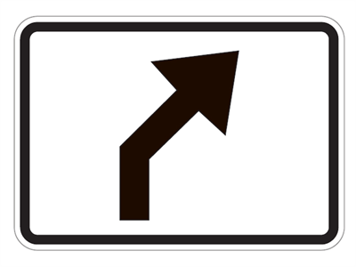 Picture of Right Diagonal Turn Ahead Arrow