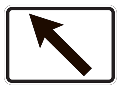 Picture of Turn Off Ahead Left Arrow