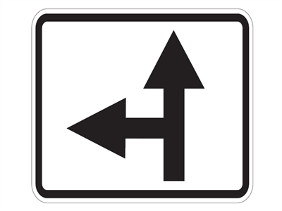 Picture of Forward & Left 90 Degree Ahead Arrow