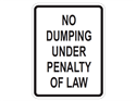 Picture of No Dumping Under Penalty of Law
