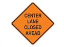 Picture of Center Lane Closed Ahead