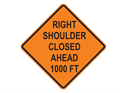 Picture of Right Shoulder Closed Ahead 1000 FT