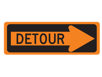 Picture of Detour In Right Arrow