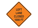 Picture of Left Lane Closed 1000 FT