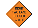 Picture of Right Two Lane Closed 1/2 Mile