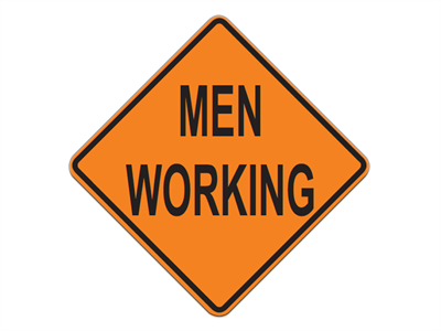Picture of Men Working-Text