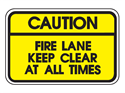 Picture of Caution Fire Lane Keep Clear At All Times