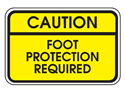 Picture of Caution Foot Protection Required