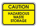 Picture of Caution Hazardous Waste Storage