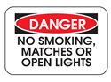 Picture of Danger No Smoking, Matches Or Open Lights