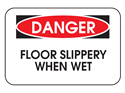 Picture of Danger Floor Slippery When Wet