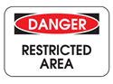 Picture of Danger Restricted Area