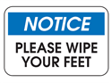 Picture of Notice Please Wipe Your Feet