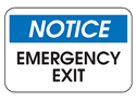 Picture of Notice Emergency Exit