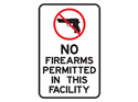 Picture of No Firearms Permitted In This Facility w/Picture