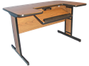 """Picture of Small Computer Table 36"""" Length"""