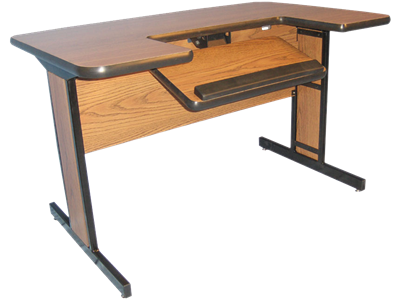 "Picture of Large Computer Table 60"" Length"