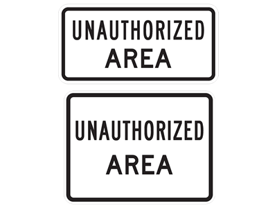 Picture of UNAUTHORIZED AREA