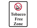Picture of Tobacco Free Zone W/ Tobacco Product Crossout Image