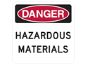 Picture of DANGER HAZARDOUS MATERIALS