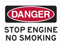 Picture of DANGER STOP ENGINE NO SMOKING