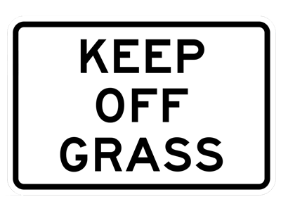 Picture of KEEP OFF GRASS