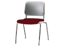 Picture of Sitka Armless Four-Leg Chair With Upholstered Seat And Poly Back