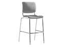 Picture of Sitka Armless Cafe Stool With Poly Seat And Back