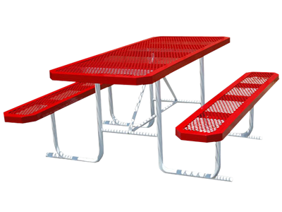 Picture of Metal Rectangle Picnic Table