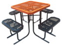 Picture of Metal Square Picnic Table