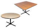 Picture of Single Pedestal Metal Base Table