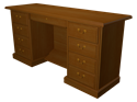 Picture of CLEARANCE: HTG Mgr Knee Cred L-BBF R-BBF Pencil Drawer Natural Pear