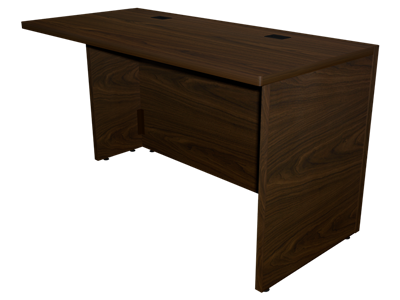 Picture of CLEARANCE: 24x54 Worksurface SEP R/H Turn Back Walnut