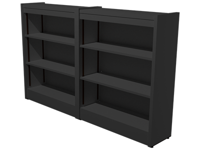 "Picture of CLEARANCE: STM Custom Double Bookcase 42"" Cinder Gray"