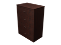 "Picture of CLEARANCE: 36"" Free Stand Lateral File 4 Drawer-Legal Mahogany"