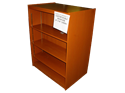 "Picture of CLEARANCE: Custom Dbl Bookcase CPL1800 36"" X 48"" Hardwood"