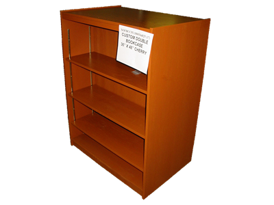 """Picture of CLEARANCE: Custom Dbl Bookcase CPL1800 36"""" X 48"""" Hardwood"""