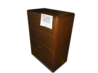 Picture of CLEARANCE: ECL Lat File Cabinet 3 Drawer Walnut
