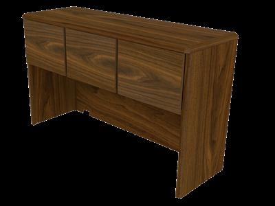 "Picture of CLEARANCE: ECL Hutch 3 Flip Doors 63-1/4"" Cred, SP & DP Desk, L & U-Desk"