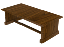 Picture of CLEARANCE: Heritage Coffee Table 24W x 48L x 16H, Walnut