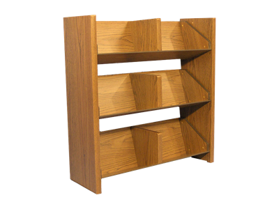"Picture of CLEARANCE: AC Magazine Rack Mahogany 36"" H x 34"" W x 12"" D"