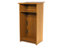 "Picture of CLEARANCE: AC Podium 46"" Tall Walnut"