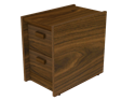 Picture of CLEARANCE: STM File Cabinet 2 Drawer Mahogany