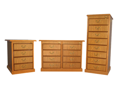 Picture of CLEARANCE: HTG File Cabinet 4 Drawer Walnut