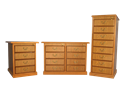 Picture of CLEARANCE: HTG Lat File Cabinet 3 Drawer Mahogany