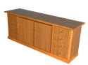 Picture of CLEARANCE: HTG Dir Credenza L-Dr R-Dr Walnut
