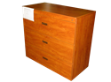 "Picture of CLEARANCE: 42"" Free Stand Lateral File 3 Drawer-Legal Wild Cherry - Transitions"