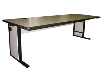 """Picture of CLEARANCE: 84"""" Computer Table Assy Prototype"""