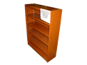 "Picture of CLEARANCE: Custom Bookcase CPL1700 36"" X 48"" Hardwood"